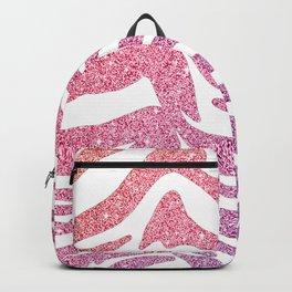 Tropical Glitter Tiger Stripes Backpack