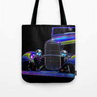 ford Tote Bags featuring Ford Abstract by Beach Bum Pics