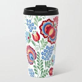 Moravian Folk Design Red Travel Mug