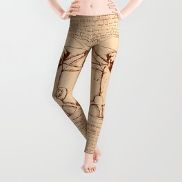 Vitruvian pug Leggings