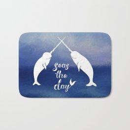 Narwhal Seas the Day Bath Mat
