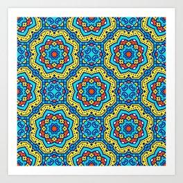 Ornate Festive Folklore Colorful Pattern Art Print