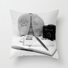 Love Letters From Paris 3 Throw Pillow
