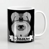 schnauzer Mugs featuring Schnauzer by mailboxdisco