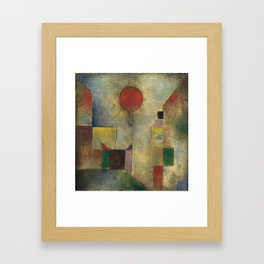 Red Balloon by Paul Klee Framed Art Print