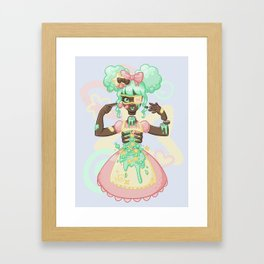 Pastel Candy Gore Framed Art Print