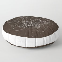 Metatrons Cube Is Out Of Space Floor Pillow