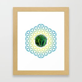 Pastel Petals Garden Gnome Fairy Flower of Life Framed Art Print