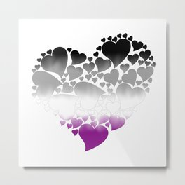 Heart of Hearts - Asexual Metal Print