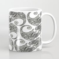chameleon Mugs featuring Chameleon by gina shord