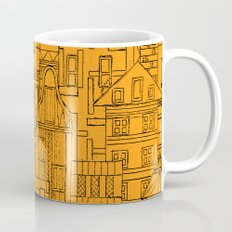 Houses - orange Mug