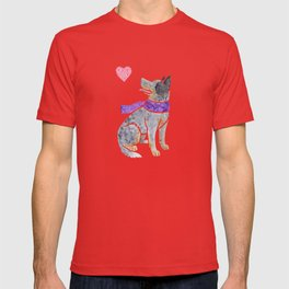 Watercolour Australian Cattle Dog T-shirt