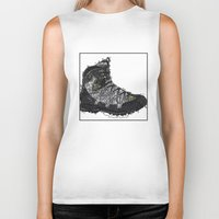 shoe Biker Tanks featuring Shoe 1 by AstridJN