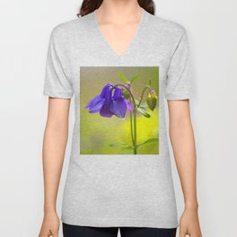 Purple Columbine In Spring Mood #decor #society6 #buyart Unisex V-Neck