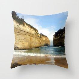 Gigantic Cliffs of the Ocean Throw Pillow