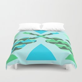 Triangles, colors and...guitars Duvet Cover