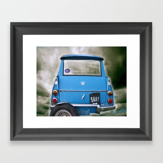 Parked in the Clouds Framed Art Print