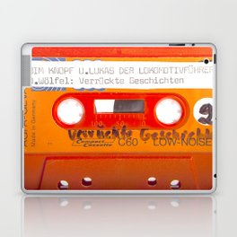 Orange Cassette Tape 70s Germany Agfa Photography Laptop & iPad Skin