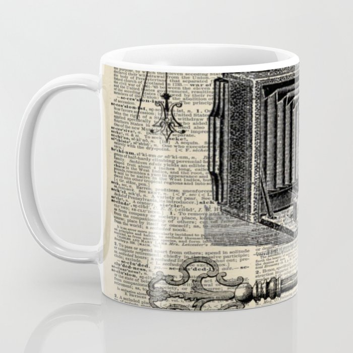 nautical compass dictionary print steampunk skeleton keys antique camera Coffee Mug