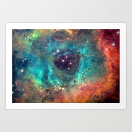Colorful Nebula Galaxy Art Print