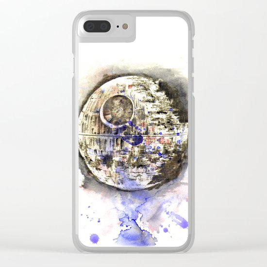 Star War Art Painting The Death Star Clear iPhone Case