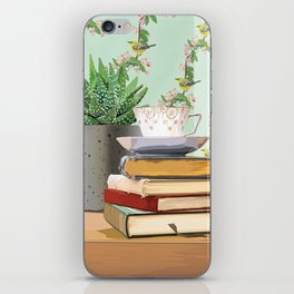 Tea and book love iPhone Skin