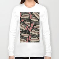 cassette Long Sleeve T-shirts featuring Broken Cassette by Sophie Bland