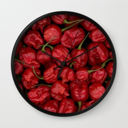 Big Bunch Of Peppers Wall Clock