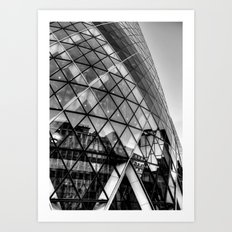 The Gherkin, London Art Print