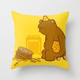 Birthday Bear Throw Pillow