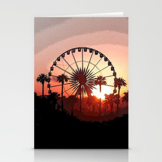Coachella Sunset 2 Stationery Cards