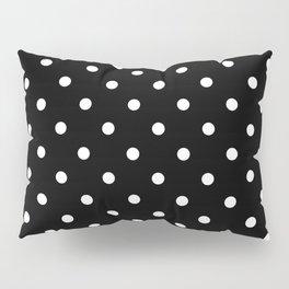 Polka dot black and white Pillow Sham