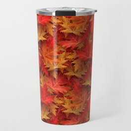 Autumn Case Fall Leaves Travel Mug