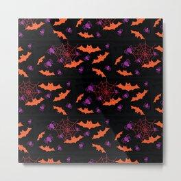 Spider Webs & Bats Metal Print