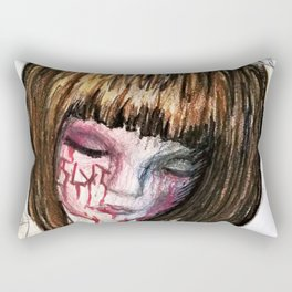 Scarred Child Halo Rectangular Pillow