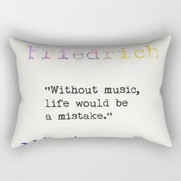 Friedrich Nietzsche quote 2 Rectangular Pillow