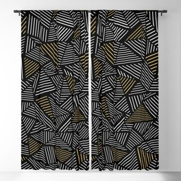 Ab Linear with Gold Repeat Blackout Curtain