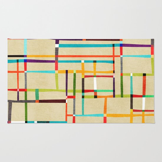 The map (after Mondrian) Rug