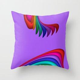 fluid -13- Throw Pillow