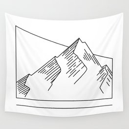 Geometric Mountain Breakthrough Wall Tapestry