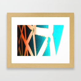 Orange/Blue Framed Art Print