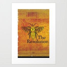 Bee the Revolution Art Print