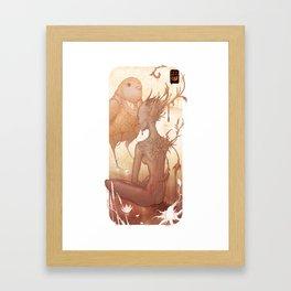 Fairy and Bird Framed Art Print