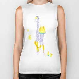 Birthdays are Coming - Midas is Ready - Christmas Lavender Giraffe Biker Tank