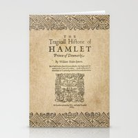 hamlet Stationery Cards featuring Shakespeare, Hamlet 1603 by BiblioTee