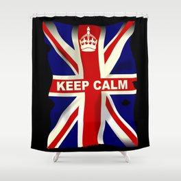Keep Calm Union Jack Shower Curtain