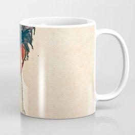 Egon Schiele - Self Portrait With Striped Shirt Coffee Mug