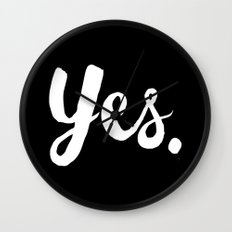 Yes - Black and white Wall Clock