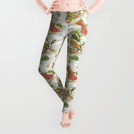 Magnolia/ Birds Leggings