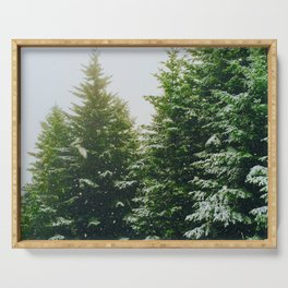 Winter Pine Tree Forest (Color) Serving Tray
